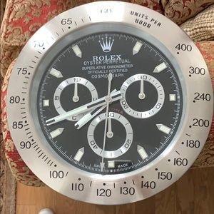 Rolex wall clock - silver